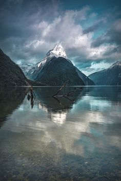 Mitres peak at Milford Sound, New Zealand,by Tom Wood, on 500px.
