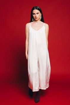 d994b8dac4 Lacausa Vera soft satin jumpsuit cream. Inspired by their best-selling  satin Santi Jumpsuit