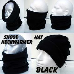 3 Colors New 3 Hole Full Face Cover Helmet Warm Soft Motorcycle Helmet Winter Knit Hat Ski Neck Gaiter Army Tactical Neck Gaiter Full Face Cap,Set2