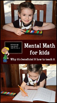 Mental Math for Kids. Learning to be a Human Calculator.  The benefits of learning right brained mental math and great ways for your kids to learn.