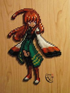 Xatu Girl Trainer Perler by Cimenord on DeviantArt