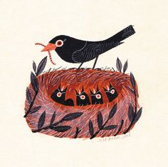 Joe Mclaren: Blackbird's Nest by lbv5000, via Flickr