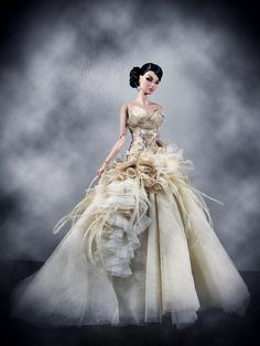Not Barbie--Fashion Royalty doll. Such a beautiful gown!