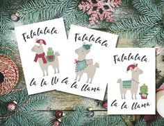 3 Happy Holiday Card printable Christmas Card Printable
