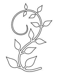 Pumpkin vine pattern. Use the printable outline for crafts ...