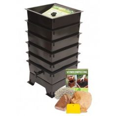 worm factory compost bin with worm tea spigot black quality house