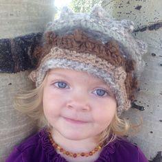 Hand spun, hand dyed yarn beanie!