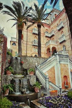 Palazzo Sasso Ravello, Italy, province of Salerno Campania Ravello Italy, Amalfi Coast Italy, Sorrento Italy, Beautiful Places In The World, Places Around The World, Around The Worlds, Italy Vacation, Italy Travel, Positano