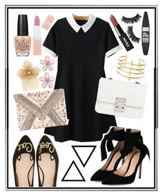 """""""My best, I guess."""" by sweet-humbug ❤ liked on Polyvore featuring WithChic, Kate Spade, Gianvito Rossi, LULUS, Design Inverso, Miriam Haskell, BauXo, OPI, Rimmel and Maybelline"""