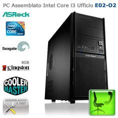 """PC Assemblato Intel Core i3 Ufficio """"E02-O2""""    http://www.e-key.it/prod-pc-assemblato-intel-core-i3-ufficio-e02-o2-37462.htm"""