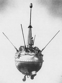Luna 2. On September 14, 1959, this Soviet spacecraft became the first artificial object to land on the Moon. [298 x 400]