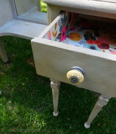 Antique vanity redo with Annie Sloan chalk paint by pleasure in simple things.