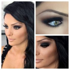 Love that she doesn't look overdone (although I don't care for her eyebrows) this is a great smoky eye.
