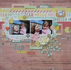 Lou's World: New layout with Simple Stories - Summer Vibes for All About Scrapbooks
