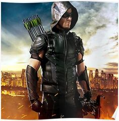 Green Arrow Cosplay Costume Oliver Queen Costume Arrow Season 4 Halloween Clothing Superhero Outfit Adult Men Custom Made Male Arrow Cosplay, Arrow Costume, The Cw, Dc Universe, Marvel Dc, Green Arrow Tv, Batgirl, Series Dc, Oliver Queen Arrow