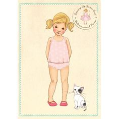 Ava Sticker Card* 1500 free paper dolls at Arielle Gabriel's The International Paper Doll Society and also free China and Japan paper dolls at The China Adventures of Arielle Gabriel *
