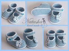 Patron zapatitos tejidos a crochet para bebe gratis04
