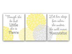 UNFRAMED PRINTS (CHOOSE YOUR SIZES) - Set of 3 Yellow & Grey Flower Burst Art with Nursery Quotes - KIDS109 Wall Art Boutique http://www.amazon.com/dp/B00KULGTVS/ref=cm_sw_r_pi_dp_ZniCub0SB9Q2Q