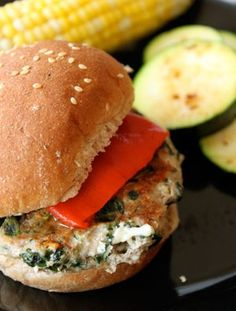 Spinach Feta Turkey Burgers | GreenLiteBites