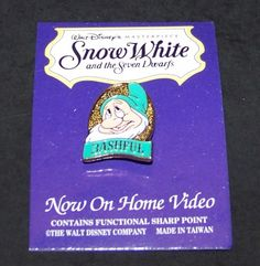 Bashful Special Edition Pin Snow White Collectors Series