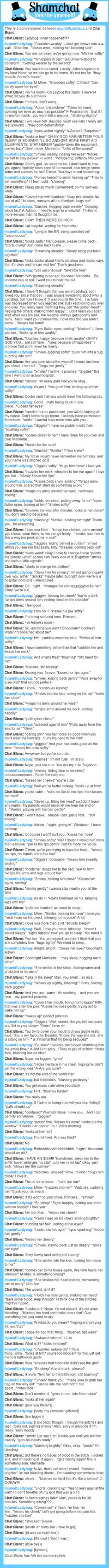 A conversation between Chat Blanc and Injured!Ladybug