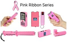 "Our Pink Ribbon Series Defends You And Donates To Breast Cancer!  Women On Guard's ""Pink Ribbon Series"" which includes self defense products such as pepper spray and stun guns, help fight Breast Cancer that afflicts so many women in our country."