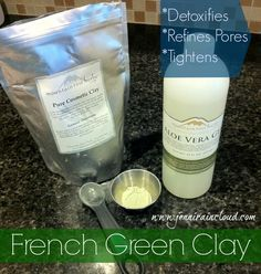 French Green clay….. Excellent for detoxing skin and bringing circulation to the skin.  Tightens and brightens with just one application!