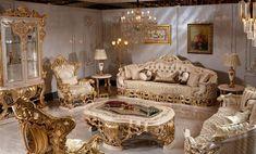 Glam Living Room, Living Room Sofa Design, Living Room Sets, Luxury Dining Room, Luxury Living, Home Decor Furniture, Luxury Furniture, Unique Furniture, Plaster Ceiling Design