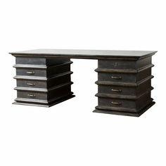 Modern Artisan Italian Desk For Sale Vintage Writing Desk, Unique Desks, Wooden Desk, Table Furniture, Filing Cabinet, Interior Decorating, Artisan, Sculpture, Modern