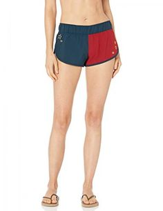 Hurley Supersuede Printed Beachrider Board Shorts Womens Size XL Crown Star