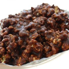 "Chocolaty Caramel-Nut Popcorn | ""An addicting, delicious recipe."""