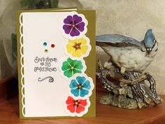 Encouragement Card, All Occasion Card, Birthday Card, Group Card, Card For Women, Card For Friend, Simple Pleasures, Five-Up Pansies by ACardOccasion on Etsy