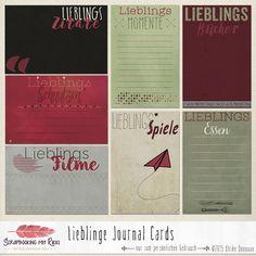 Neu im Shop: Lieblinge Journaling Karten & Flairs Journal Cards, Project Life, Happy Planner, Planner Stickers, Paper Crafts, Bullet Journal, Printables, Learning, Etsy