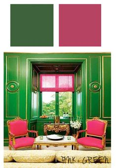 Such a pretty pairing of Emerald and Bright Hot Pink!!! Super fab!!  {xx Ashley}