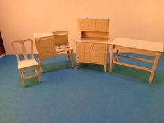 Vintage Tootsie Toy Miniature Dollhouse Kitchen Furniture Lot2 | eBay