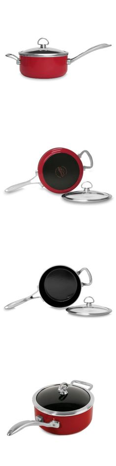 Chantal Copper Fusion 3-Quart Sauce Pan with Glass Lid, Chili Red