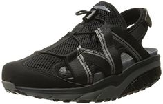 cf307a5b49e8 MBT Women s Jasira 6 Trail Athletic Sandal, Black Charcoal Grey, 40 M US.  Lightweight synthetic leather and mesh upper. non-marking rubber outsole.