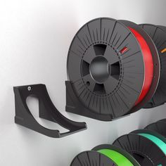Download the files for the 3D printed SPOOL WALL RACK by Helder L. Santos