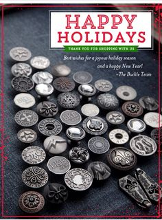 Well done buckle. Well done. Holidays And Events, Happy Holidays, Email Design Inspiration, Event Marketing, Jeans Button, Merry Christmas, Button Tree, Crafts, Buttons