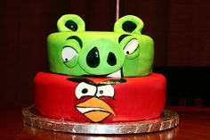 Angry Birds Birthday Cake by JDierking Photography, via Flickr