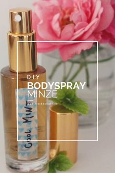 Bodyspray ganz einfach mit wenigen Zutaten selbst machen. After Sun, Aloe Vera, Mascara, Beauty Recipe, Diy Beauty, Voss Bottle, Make Your Own, Mint, Personal Care