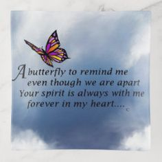 Butterfly Memorial Poem Tile   Zazzle.com Butterfly Tattoo Meaning, Butterfly Quotes, Butterfly Clip Art, Short Memorial Quotes, Memorial Poems, Sympathy Gifts, Sympathy Cards, Meaning Full Tattoos, Prayer Tattoo