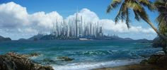 matte painting paradise - Google Search
