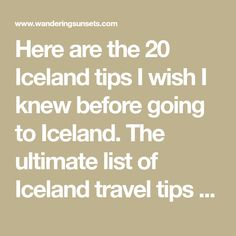 Here are the 20 Iceland tips I wish I knew before going to Iceland. The ultimate list of Iceland travel tips you will want to check out before you go!