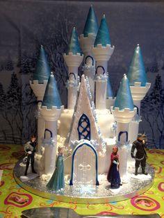 Frozen Birthday Cake 2014 using the Wilton Castle Cake Pan set