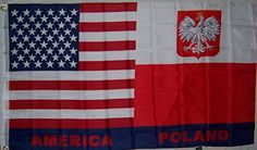 3x5 USA America American Polish Old Poland Flag 3x5 Banner Brass Grommets -- More info could be found at the image url.