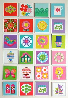 Kitschy Digitals :: Printables :: Memory Card Game Printable