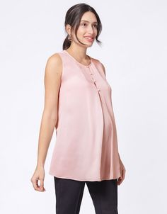 Seraphine's Blush Semi-Sheer Maternity & Nursing Top offers a flattering, feminine fit through every stage of pregnancy & easy nursing access afterwards. Maternity Work Clothes, Cute Maternity Dresses, Stylish Maternity, Maternity Nursing, Maternity Wear, Maternity Tops, Maternity Fashion, Maternity Style, Pregnancy Style
