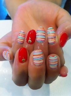 Summery Nail Art Design
