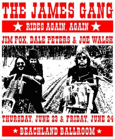 James Gang Posters | The James Gang 2005 Beachland Ballroom Cleveland Ohio Concert Poster ...